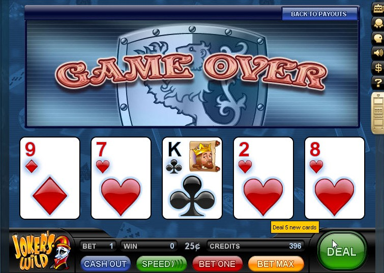 video poker on line